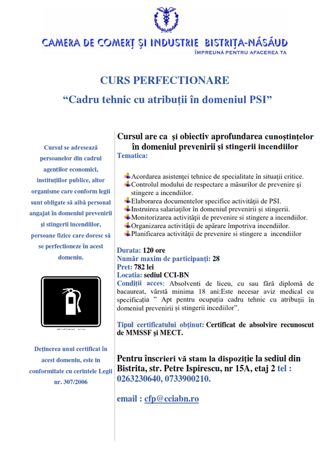 Curs Perfectionare PSI