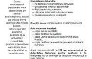 Curs de formare profesionala Arhivar - cod COR 441501