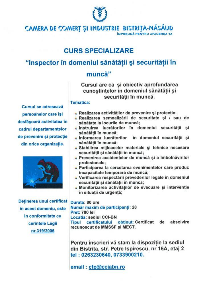 Curs Inspector SSM