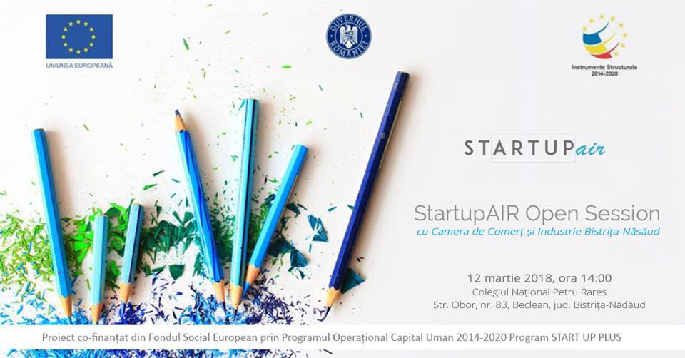 Startup Air – seminar de informare gratuit – Bistrita