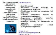 Curs Specialist in managementul deseurilor