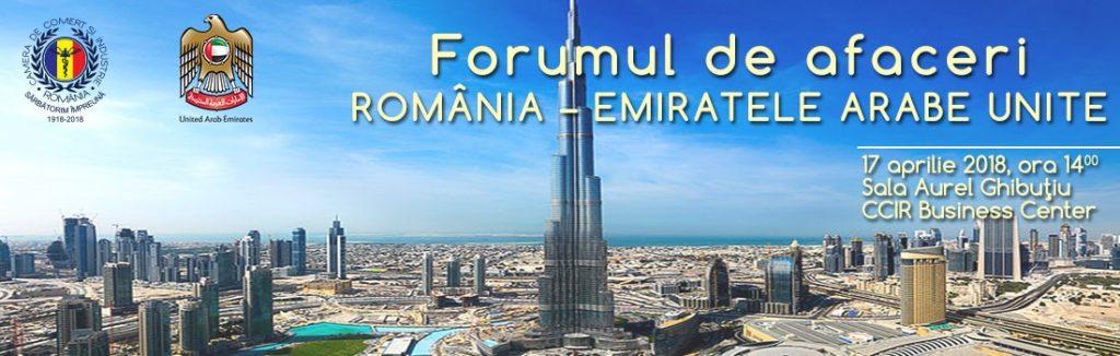 Forumul de Afaceri si Investitii Romania-Emiratele Arabe Unite