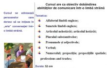 Curs Comunicare in limba engleza