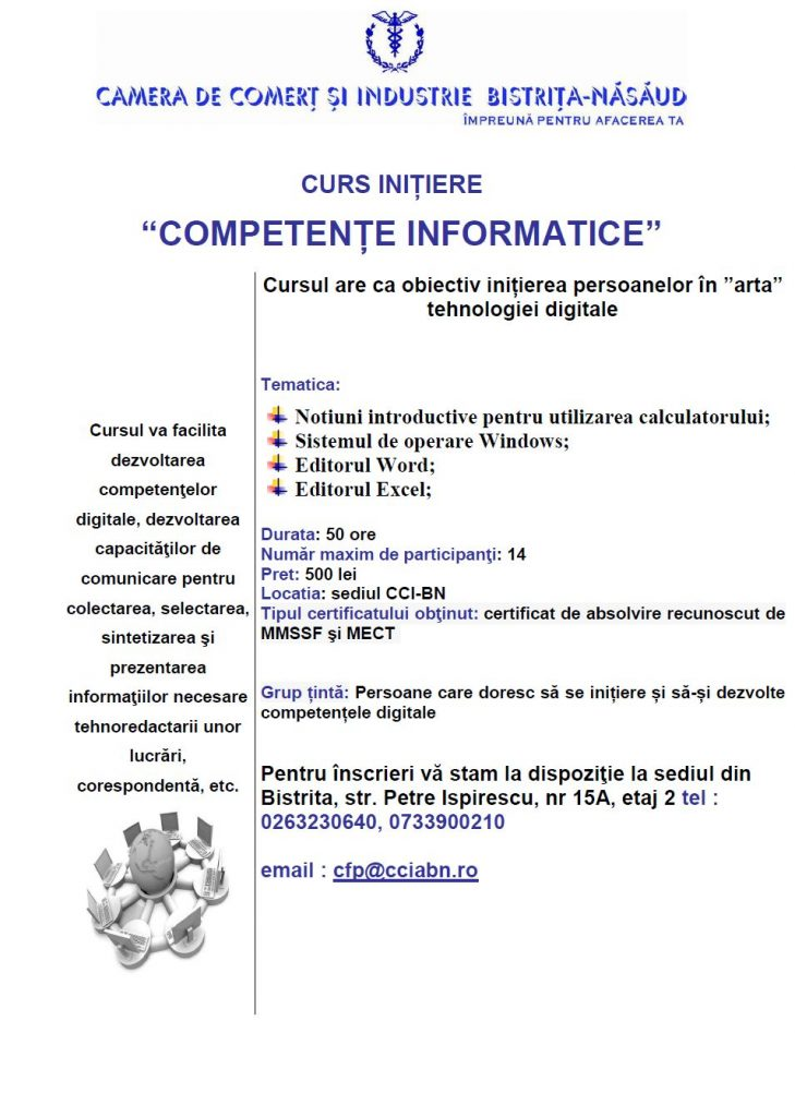 Curs Competente informatice