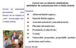 COMUNICARE ÎN LIMBA ENGLEZĂ - Specializare
