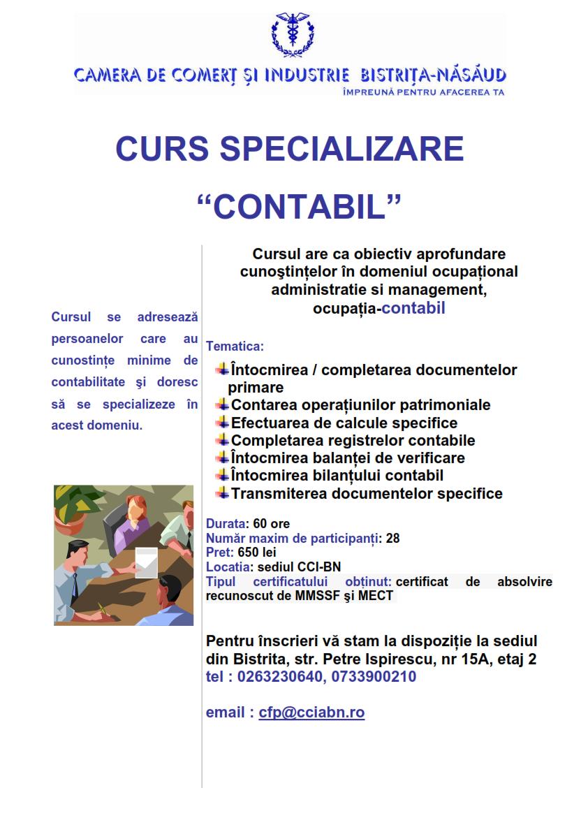 Curs specializare CONTABIL