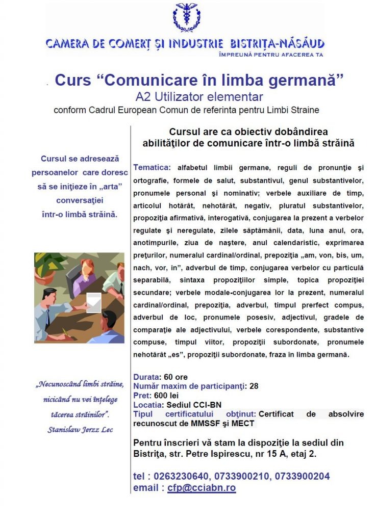 Curs Comunicare in Limba Germana