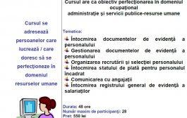 Curs Perfectionare - Inspector Resurse Umane