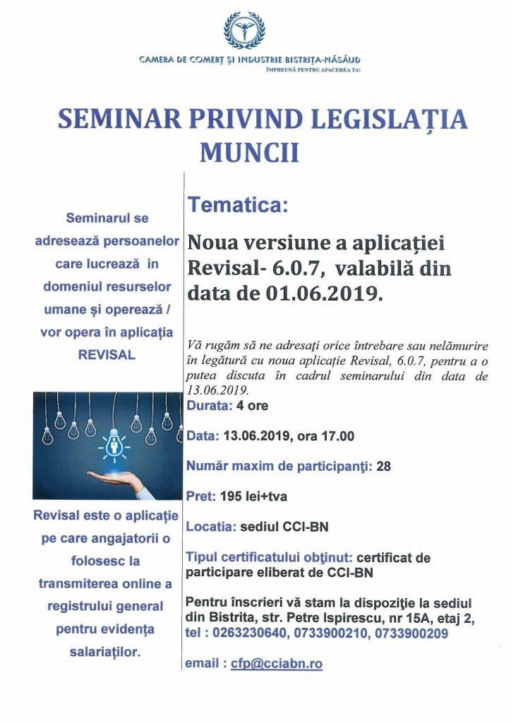 Seminar resurse umane - REVISAL