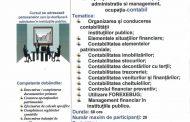 """Curs de specializare """"Contabil"""" - adresat persoanelor care își desfășoară activitatea în instituțiile publice"""