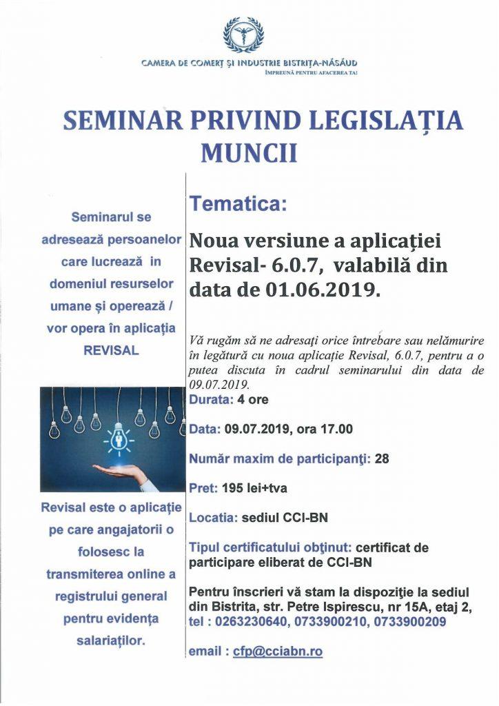 Seminar Legislația Muncii - Revisal 6.0.7