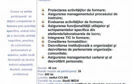 Curs Instructor/Preparator Formare