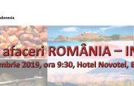 Forumul de Afaceri România – Indonezia