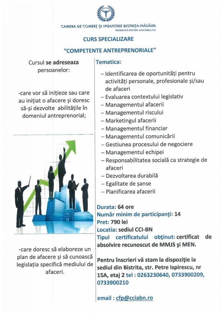 Curs Competente Antreprenoriale