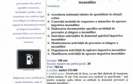 Curs specializare - Cadru tehnic cu atribuţii în domeniul PSI –COD COR-541902
