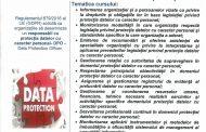"""Curs -""""Responsabil cu protecția datelor cu caracter personal""""- COR:242231"""