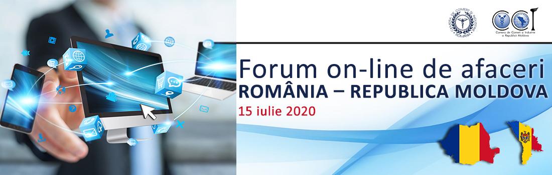 Forum on-line de afaceri ROMÂNIA – REPUBLICA MOLDOVA