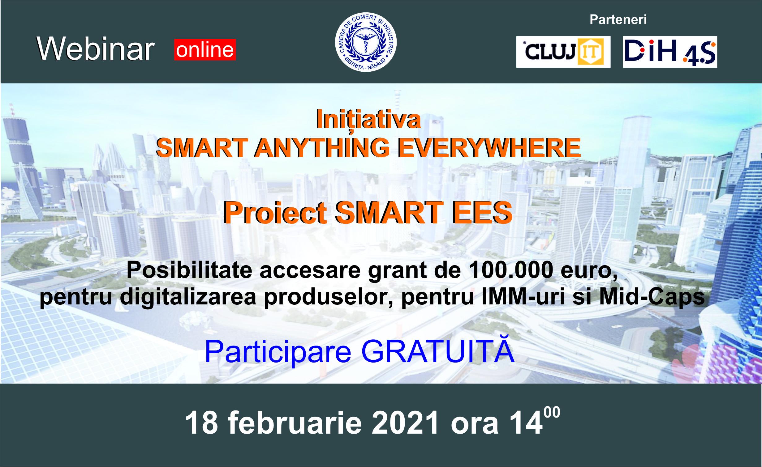 Webinarul de prezentare a proiectului SmartEEs - Comunicat de presa
